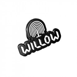 Willow Icon Pin  Black
